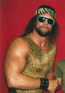 """Macho Man"" Randy Savage, one of the most recognisable wrestlers of the 1980s.  (Source)"