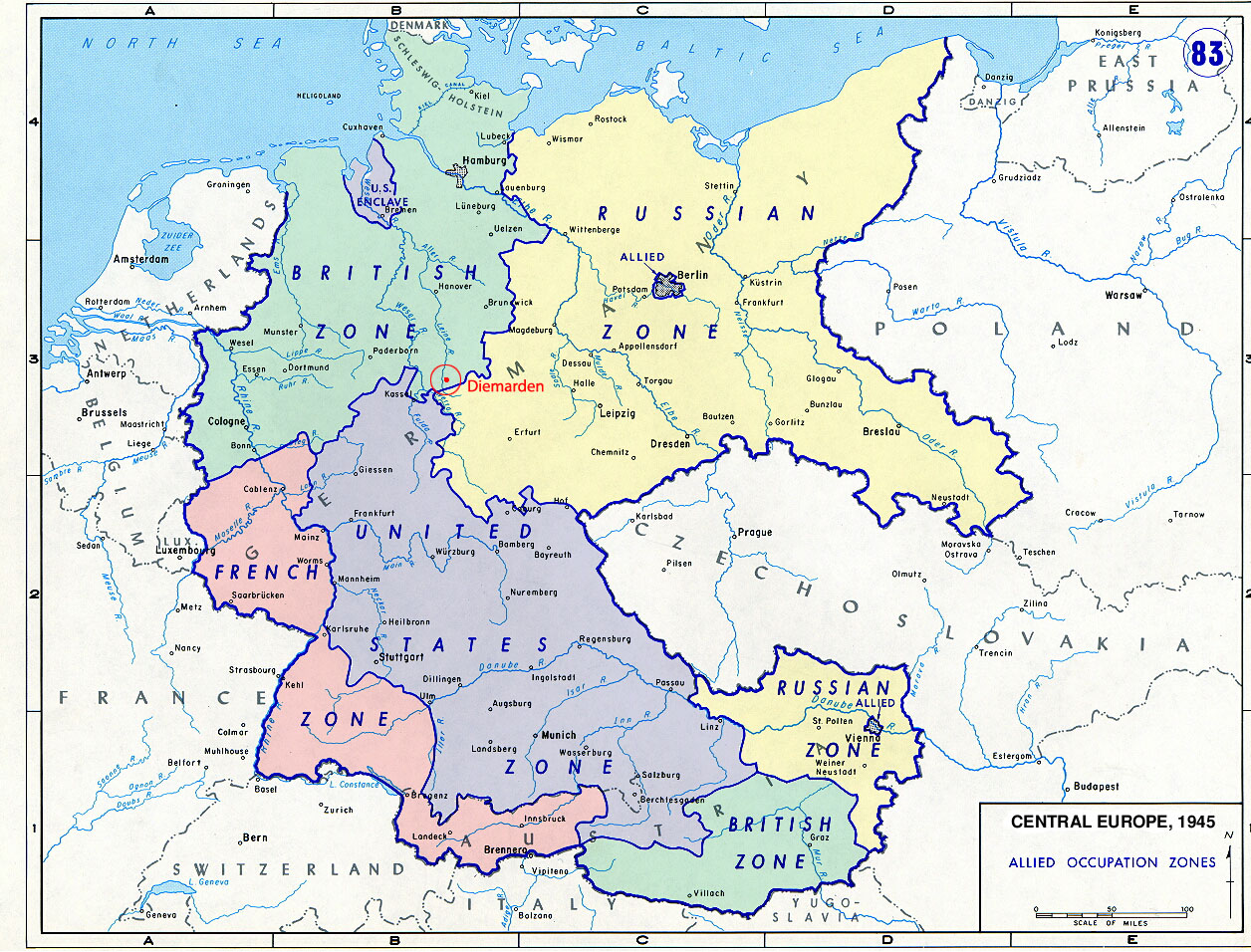 Map Of Germany Occupation Zones.1989 The Fall Of The Berlin Wall An Historian