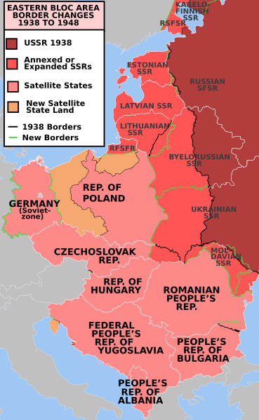 Soviet occupation in Eastern Europe following the Second World War.