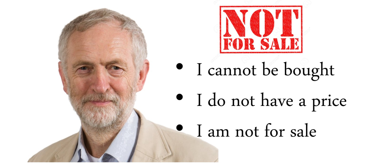 Meme posted by on Twitter by @LabourEoin. It emphasises Corbyn's fight against vested interests, claiming that his critics only do so because they fear he will end their dominance.