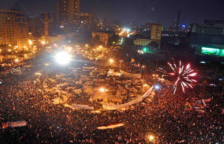 Tahrir Square, February 2011. Photograph by Jonathan Rashad. (Source)